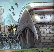 Gorn carrier IDW Comics