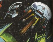 Achilles firing shuttle torpedoes