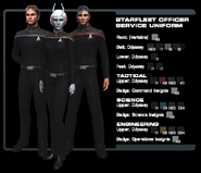SF officer service uniform
