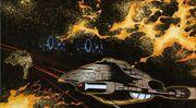 Voyager attacks kazon raider