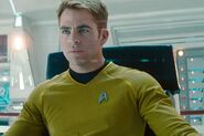 James T. Kirk on the bridge as Captain