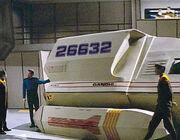 Riker leaving Gandhi shuttle