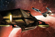 Narada and the Enterprise arrive at Vulcan