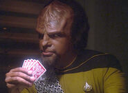 Worf plays poker
