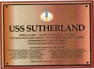 USS Sutherland ded. plaque