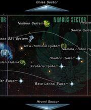 Nimbus sector map