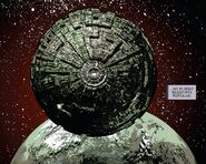 The Borg Sphere above Romulus - Star Trek - Boldly Go 004