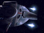USS Defiant firing quantum torpedoes
