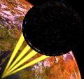 23th Century Borg Sphere firing the incorporated Planet Smasher.jpg