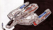 Federation scarab fighter closeup
