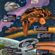 Voyager and alien ships