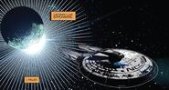 The Endeavour leaving Romulus minus one crew member - Star Trek - Boldly Go 004