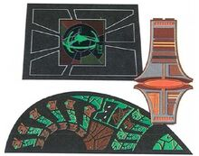 Cardassian shatterframe, button pad & Operations interface