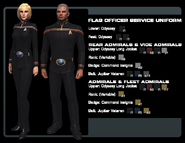 SF flag officer uniforms