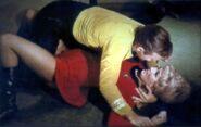 Rand pinned to floor by Animal Kirk
