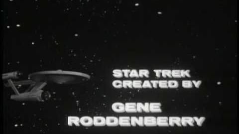 Star Trek The Cage Original Black and White intro