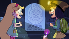 S2E27 Star and Janna in front of Bon Bon's tombstone