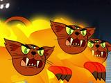 Трёхглазые огненные коты