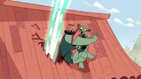 S1E16 Magic blast almost hits Buff Frog
