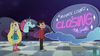 S2E33 Star, Marco, and Pony Head in the closed Bounce Lounge