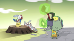 S2E35 Ludo and Glossaryck eating pudding together
