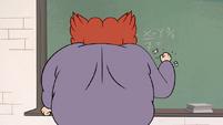 S1E3 Miss Skullnick breaks piece of chalk