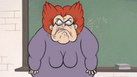 S1E3 Miss Skullnick growling