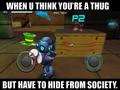SpartanPro1 - When u a Thug, but u gotta hide (Meme)