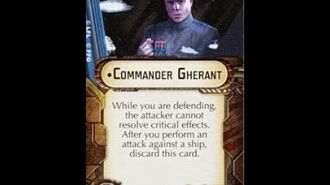 """How-to use Officer """"Commander Gherant"""" - Star Wars Armada Explained (SWAE)"""