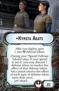 Commander-Rebel Kyrsta Agate