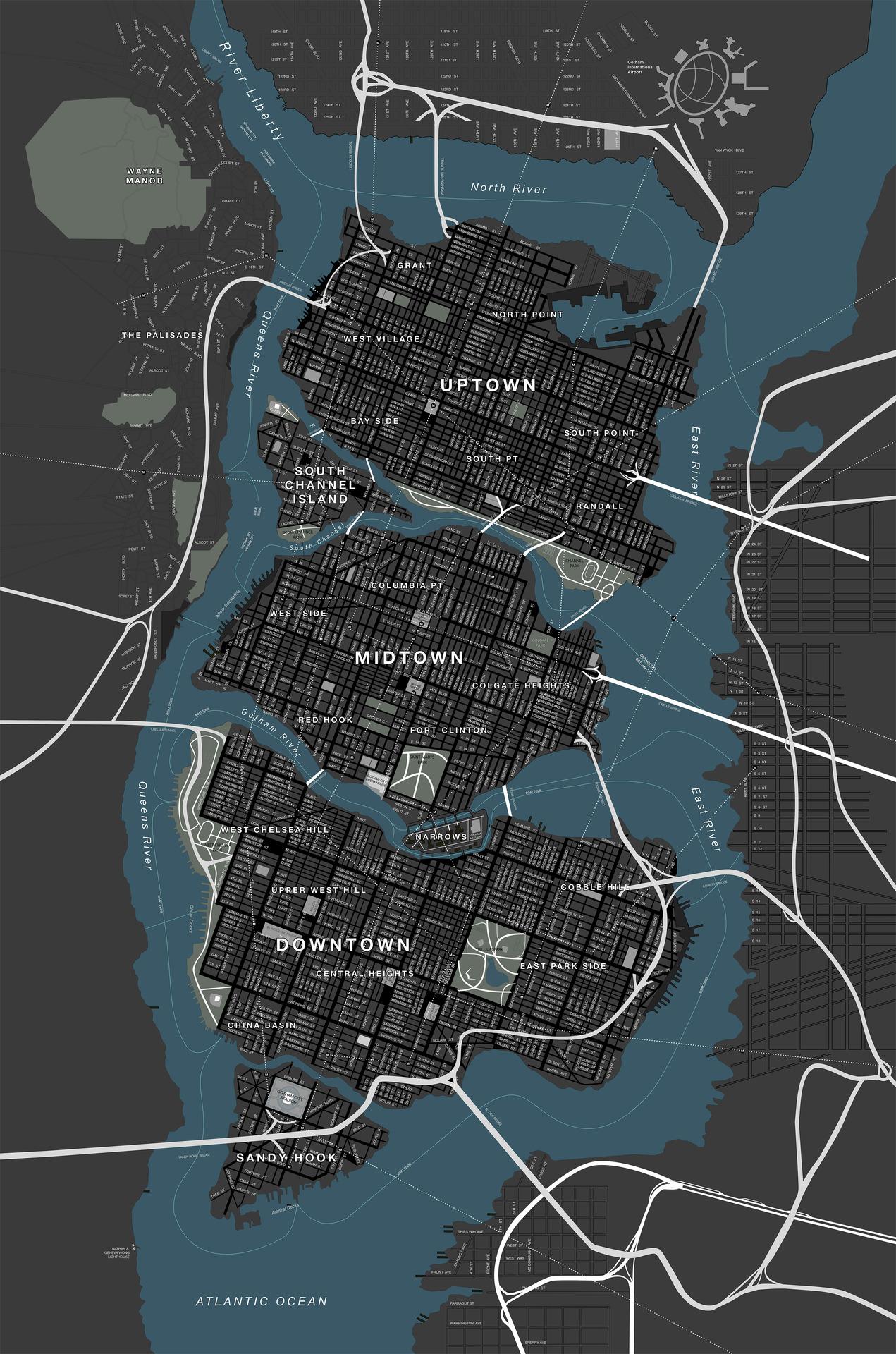 Minecraft Gotham City Map - Klippdesign
