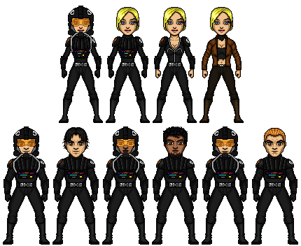Skull squadron microheroes by cptmeatman-d4c8qah