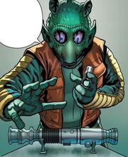 Greedo lightsaber theft