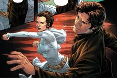 Leia hits Han