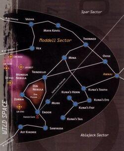 Mappa Settore Moddell