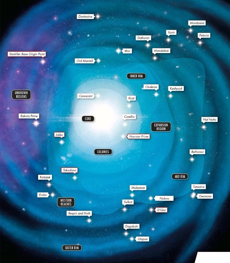 Image Canon Galaxy Mapjpg Wookieepedia FANDOM Powered By Wikia - Map of all planets