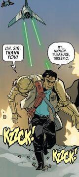 Poe helps C-3PO