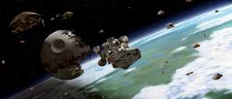Battle over Endor