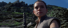 Rey on Ahch-To
