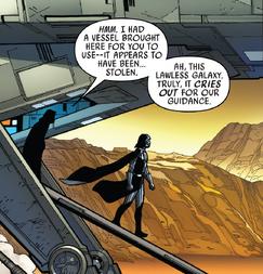 DV 1 Sidious leaves Vader