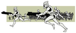 Clone Troopers running