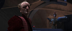 Dr Boll confers with Palpatine