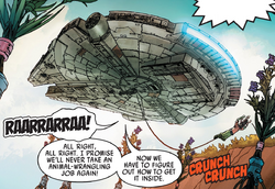 Solo and Chewie escape Ivorcia Prime