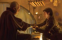 Lor San Tekka and Poe Dameron