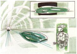 Repulsorcraft with Pilot Droid