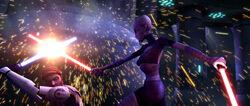 Obi-Wan vs Ventress Teth