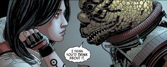 Bossk threatens Aphra