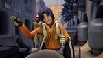 Ezra Steals speeder