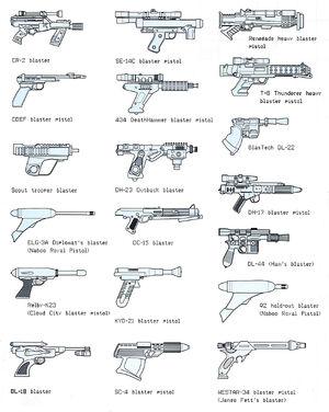 Pistolety blasterowe