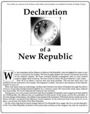 Deklarace Nové republiky 1